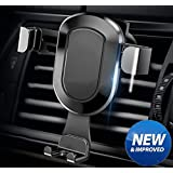 Car Phone Mount , Gravity Air Vent Phone Holder with High Elastic Clip and Scratch-proof Pad , Support iPhone Samsung and Other Smart Cellphone by HonShoop