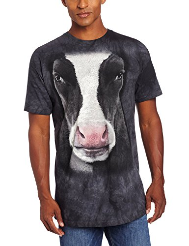 The Mountain Black Cow Face Adult T-Shirt, Black, Small