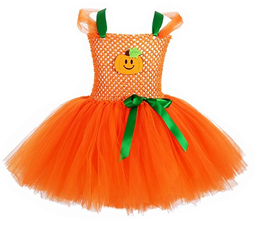 Tutu Dreams Pumpkin Costume for Toddler Girls (S, Pumpkin)]()
