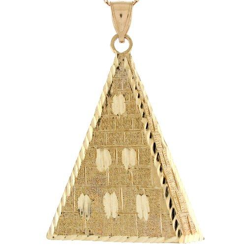 14ct Or Jaune Pendentif Pyramide Inspiration égyptienne 5.3cm X 3.5cm