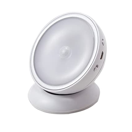 Lámpara de Noche con Sensor de Movimiento Carga USB Luz LED de Nocturna Dimmable Giratorio 360