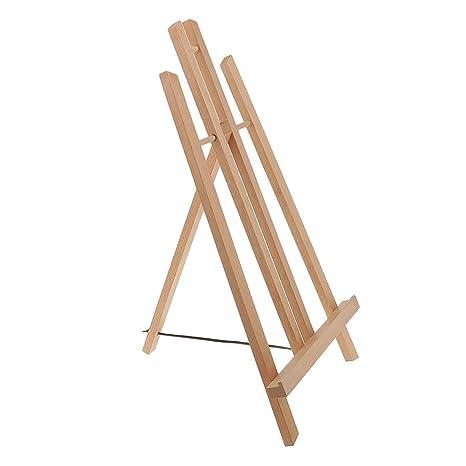Mesa de madera ajustable y portátil, caballete para pintar, imagen ...