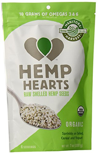 Manitoba Harvest Hemp Seed Nut - Manitoba Harvest Organic Hemp Hearts Raw Shelled Hemp Seeds, 7 Ounce