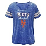Outerstuff York Mets Majestic MLB Girls Blue Loving The Game Boxy T-Shirt