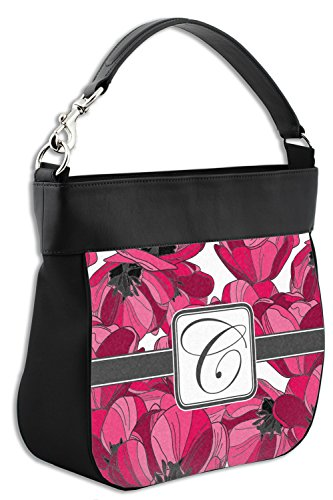 w Trim Personalized Genuine Leather Front Hobo Purse Tulips EBqO8zwP