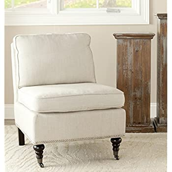 safavieh mercer collection randy slipper chair off white
