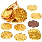 Monete di Cioccolato Perfette per Riempire Calze Natalizie e Sacchetti Regalo per Feste di Bambini (Confezione da 15)