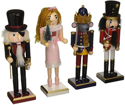 Burton and Burton Christmas Character Nutcracker Figurines, Set of 4, 10