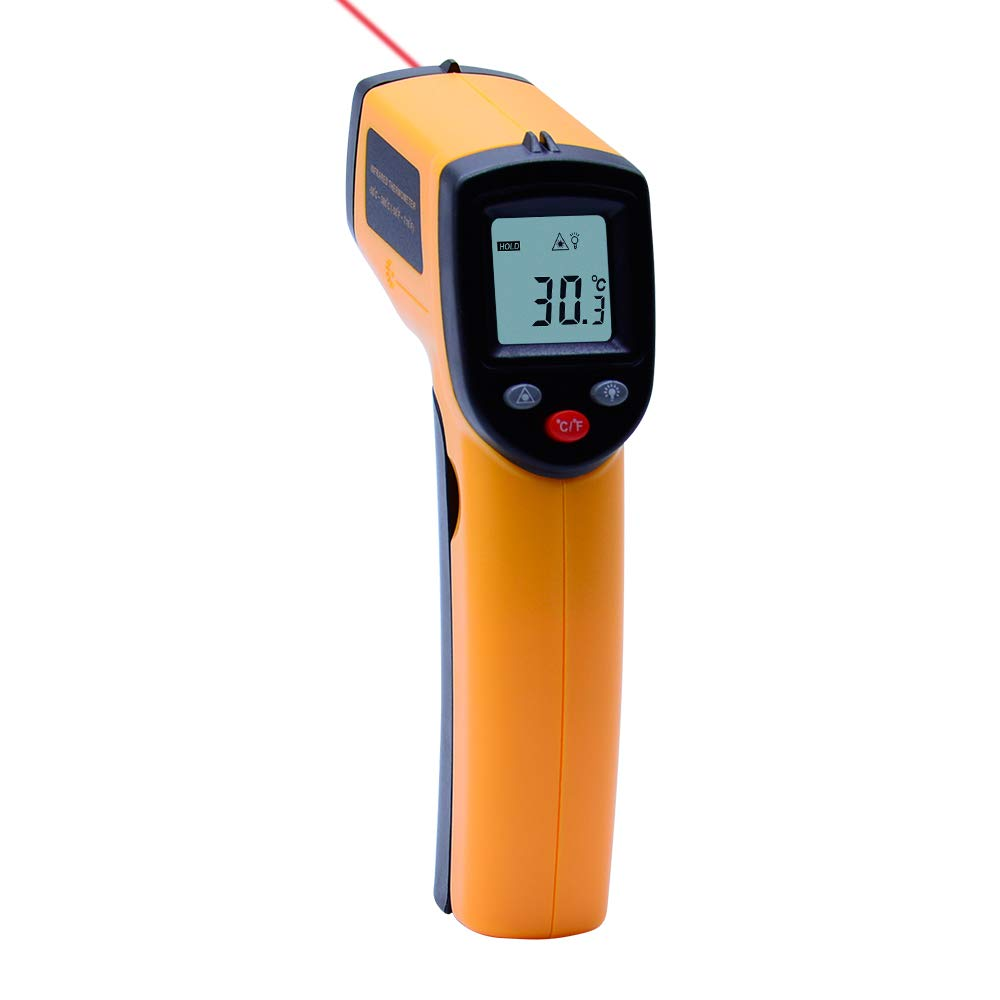 OUTEST Laser Digital Thermometer Gun Non Contact Infrared Thermometer Temperature Pyrometer IR Laser Point Gun -50~380℃ (-58 °F ~716°F)