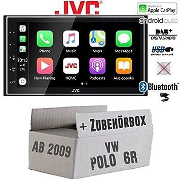 Kenwood Radio für VW Polo 6R Autoradio Bluetooth USB Apple Android Einbauset PKW