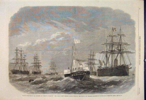 old-original-antique-victorian-print-plymouth-prince-princess-wales-yacht-osborne-royal-1865-84maa1