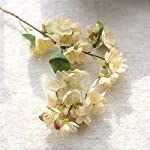 1Pcs-Artificial-Flowers-Silk-Flower-Fake-Leaf-Cherry-Blossom-Wedding-Decoration-Home-Decor-Party-OrnamentsWhite