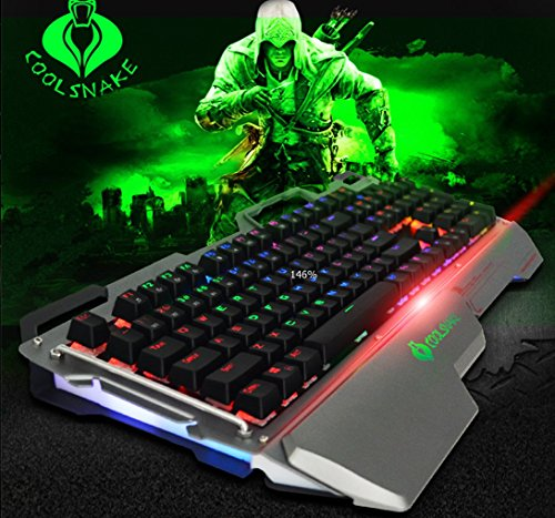 Cool snake green axis mechanical keyboard 104 key no red big hand rgb waterproof and dustproof cafe Internet cafe games, sports special (Xbox 360 Tritton Trigger Headset)