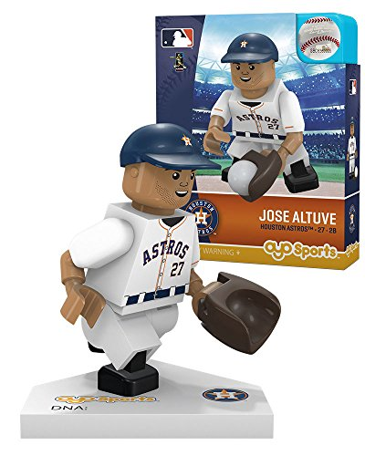 MLB San Francisco Giants Houston Astros Jose Altuve Home Uniform Limited Edition Minifigure, Small, White