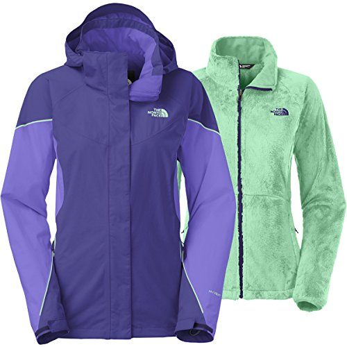 The North Face Boundary Triclimate Jacket Womens Garnet Purple/Starry Purple/Surf Green S