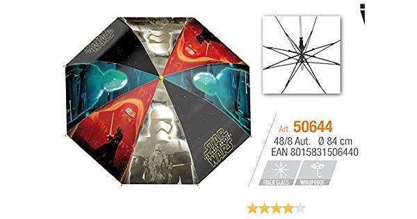 PERLETTI perletti50644 48 x 8 cm Boy Star Wars Impreso paraguas a prueba de viento: Amazon.es: Juguetes y juegos