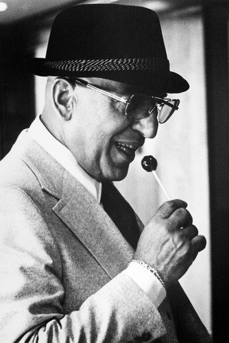 (Telly Savalas in Kojak 24x36 Poster classic hat and lollipop)