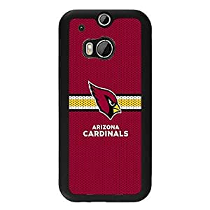 Htc one m8 Case For Men NFL Arizona Cardinals Football Team Logo Sports Design Hard Plastic Shell Tpu Rubber Slim Fit Protective Phone Accessories Case Cover for Men