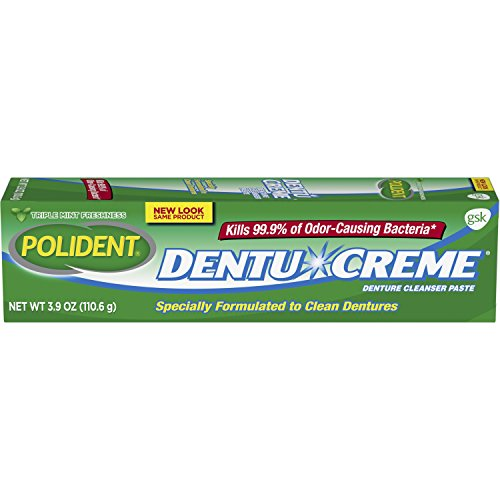 Polident Triple Mint Fresh Paste for Denture Cleaning, 3.9 ounces (Pack of 6)