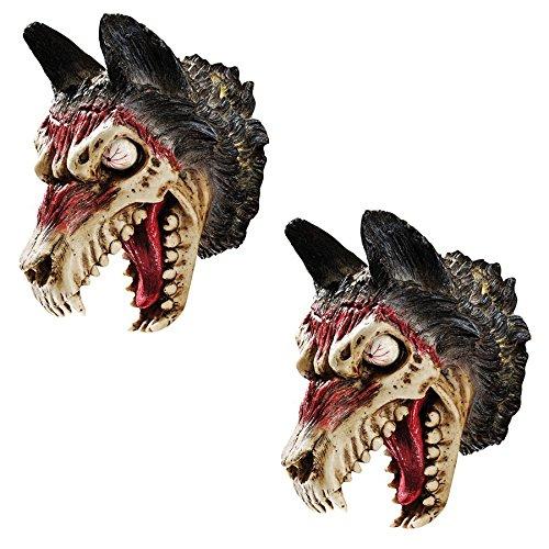 Design Toscano Werewolf Zombie Wall Sculpture: Set of Two - Werewolf Statue - Zombie Statue -