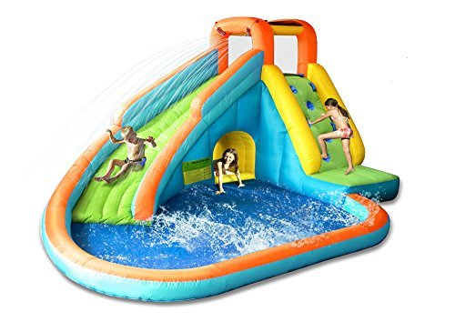 Playful Water Slide with Large Pool