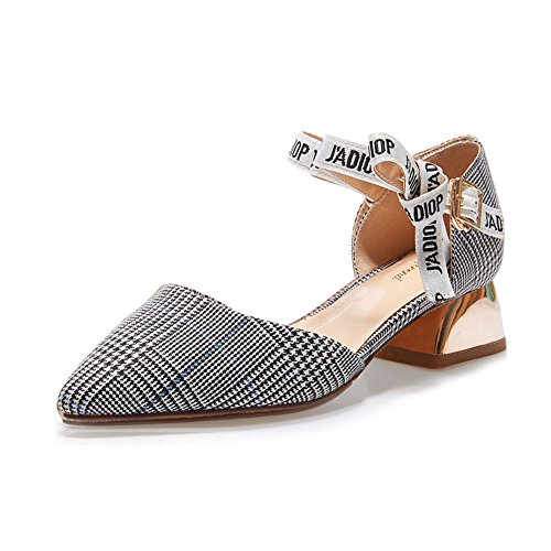 Xia B Banquete Moda Single Shoes Altos Tacones Elegante Spring amp;chanclas r8Twqnzr
