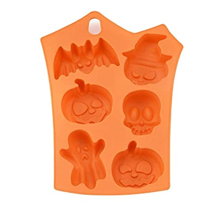 Haihuic Calabaza de Halloween Molde de Silicona Fondant Molde de Pasta de Goma de la Torta