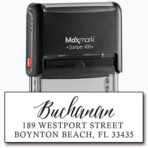 Return Address Stamp - Self Inking Rubber Address Stamp - Customize Online - Style RA224 (Address Stamp)