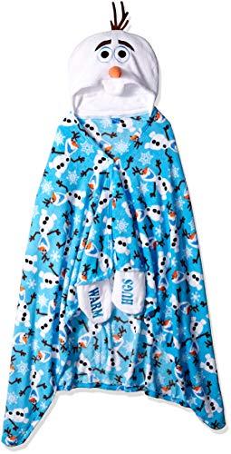 Disney Women's Olaf Cozy Wrap, Blue ()