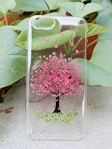Lg Resin Tree - Pink Tree Blossom LG V20 V30 Phone Case- Pressed Dried Flowers On LG G6, LG G5, LG G3 Crystal Clear Snap on Cases - Real Flowers HTC A9, Sony XA, Sony Xperia Z3, Z3 Mini, Z5 Mini Phone Cover