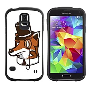 Hybrid Anti-Shock Bumper Case for Samsung Galaxy S5 / High Class Fox