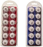 Bluedot Trading LED Battery Operated Submersible Tea Lights, Red and Blue, 24-Pack