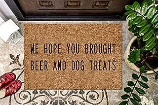 product image for Dog Coir Doormat Dog Treat Personalized Coir Doormat Gift Pet Lovers Welcome Doormat Front Door Mat Funny Welcome Mat Dog Lovers Door Mat Housewarming Gift Cute Doormat Outdoor/Indoor Mat