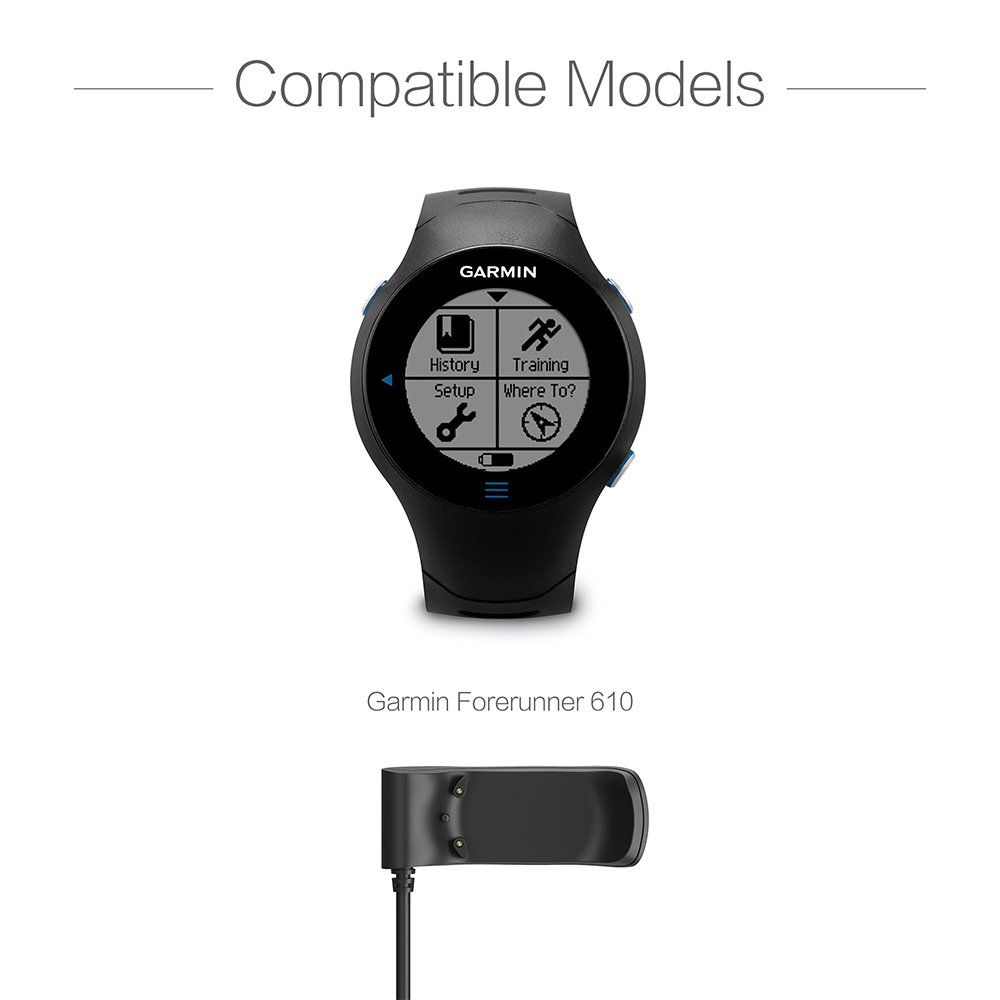 TUSITA Charger for Garmin Forerunner 610 - USB Charging Cable 100cm - GPS Smartwatch Accessories