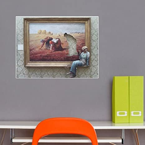 Banksy smoking pittura parete vinile: Amazon.it: Casa e cucina