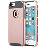 iPhone 6s Case, ULAK Hybrid Slim Case With Hard PC and Inner Rubber Cover for Apple iPhone 6S 4.7 Inch & iPhone 6 4.7 Inch Device (Rose Gold+Grey)