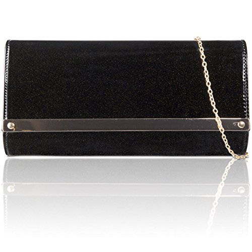 Xardi New in similpelle donne pochette da sposa designer donne Evening party Handbags Black