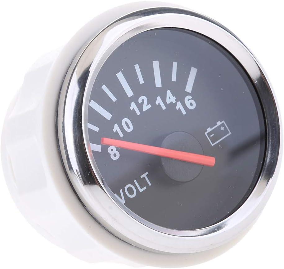 Universal Pointer 12 V 2 Zoll 52 Mm Volt Spannung Meter Gauge Voltmeter Wasserdicht Für Auto Fahrzeug Auto Yacht Boot Messbereich 8 16 V N2 Auto