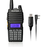 Baofeng UV-5X Mate Handheld Two-way radio VHF136-174MHz UHF400-520MHz Dual Display Standby Transceiver Walkie Talkie with Tokmate Programming Cable