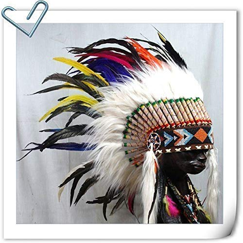 Feather Headdress American Native Warbonnet Feather Hat Chief Indian Headdress S