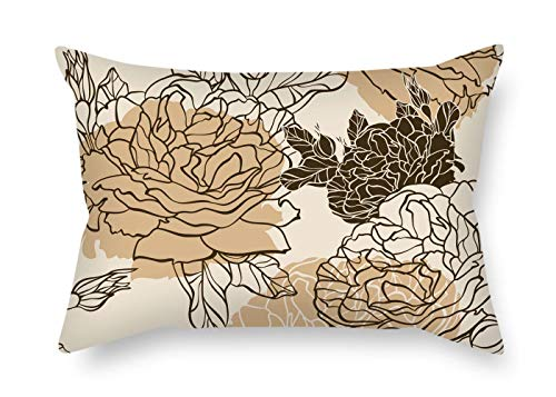 MaSoyy 12 X 20 Inches / 30 by 50 cm Flower Cushion Cases 2 Sides is Fit for Outdoor Car Seat Home Office Son Club Outdoor