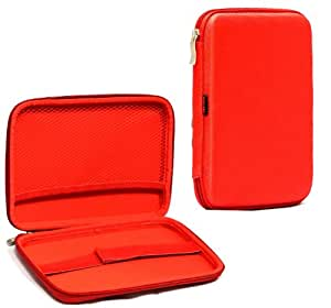MiTab Eva Hard Nylon Protective Tough Carry Case For The (Wexler Tab 7iD, Red)