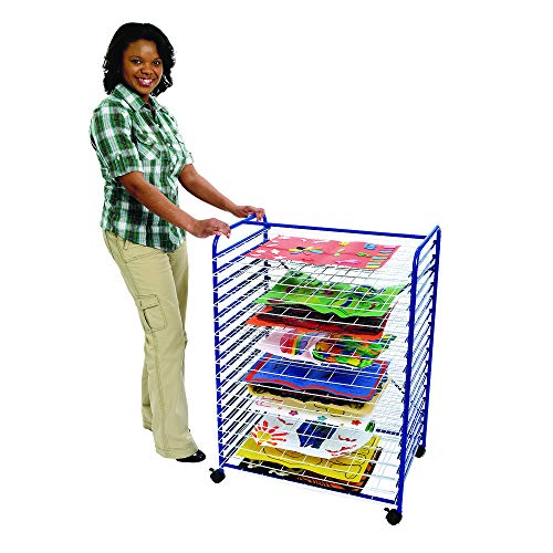 "Colorations Mobile Art Drying Rack Sturdy Lightweight 36 1/2""H x 26 1/2""W x 17 1/2""D (Item # MOBRACK)"