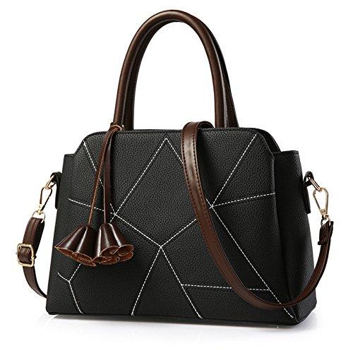 Y Nueva Comodidad Señoras Simple Moda De De Bolso Señoras Primavera Meaeo Negro Bolso La Verano Hombro black 516qWxFXz