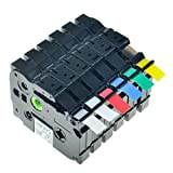 """Greencycle 6 Pack Compatible For Brother P-touch Label Tapes Combo Set TZ131 TZ231 TZ431 TZ531 TZ631 TZ731 12mmX8m, 1/2""""X26.2ft"""