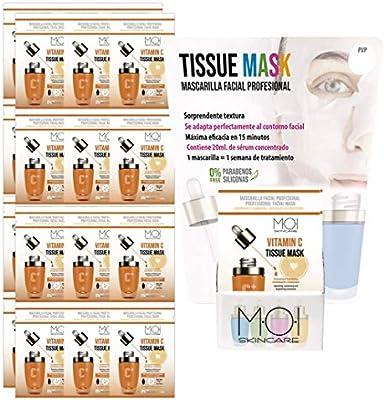 Pack 24 Mascarillas faciales Vitamin C Tissue Mask hidratante ...