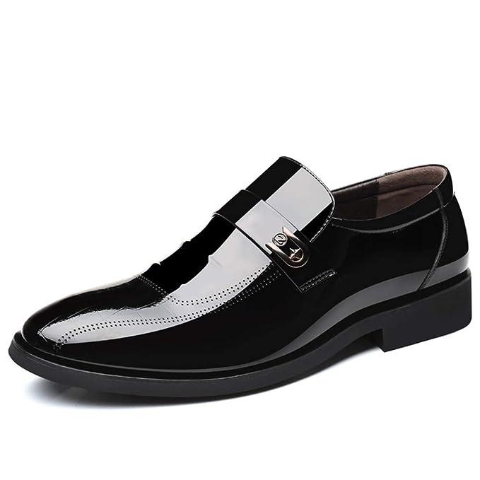 c396a2f74a87f Amazon.com: Gobling Men's Oxfords Patent Leather Plain Toe Wedding ...