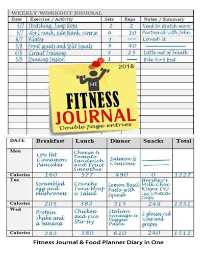 Fitness Journal 2018 : Fitness Journal and Food Planner Diary in One:...