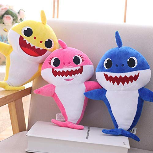 - Lshylock Singing Song Plush Children's Toy Shark Dolls Baby Dancing and Shine 3 Pack