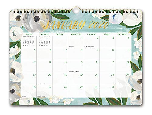 Orange Circle Studio 2020 Deluxe Wall Calendar, August 2019 - December 2020, Bella Flora